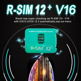 RSim12 + V16 R sim12 + SIM 12+ Sblocco RSIM 12+ R-Sim 12+ per iPhone XS X 8 7 6 Plus sblocco automatico del menu a comparsa per iOS 12.2-12.3 da ios7 iphone 4s fornitori