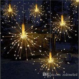 2019 fil étoile rouge Bricolage extérieur étanche LED de Noël de lumières Feu d'artifice à piles décoratives Guirlande lumineuse pour Garland Patio de mariage