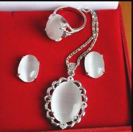 Canada Collier gratuit 6 couleurs 18kgp opale incrustée jade oeil de tigre cristal collier boucle d'oreille sertie de bijoux A247 Offre