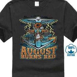 camicia di ancoraggio rossa Sconti Maglietta August Burns Red Anchor S M L Xl 2xl Maglietta ufficiale nuovissima per uomo / ragazzo Tshirt