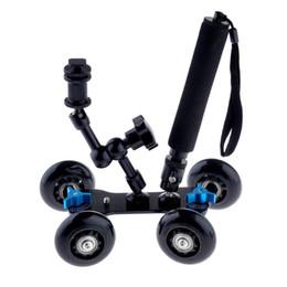 """Pista del braccio online-Freeshipping 3 in 1 flessibile Rail Rolling Track Slider Skater Dolly Car + 7 """"Magic Arm + Selfie monopiede allungabile con attacco per treppiede"""