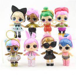 2019 bolo de banda desenhada 8 modelos Dolls 9cm LoL com mamadeira americano PVC Kawaii Brinquedos Ação Anime Figuras realísticas Renascer Dolls para meninas miúdos brinquedos