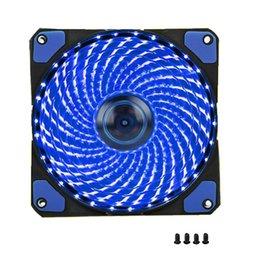 2019 ventilador de disipador de calor para pc 1Pcs PC Computer Fan Fan 120mm 33 LED Silent Fan Disipador térmico Refrigeración para cajas de computadoras, refrigeradores de CPU y radiadores Ultra silencioso ventilador de disipador de calor para pc baratos