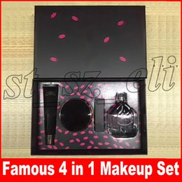 Canada Célèbre nouvelle marque maquillage ensemble Top Top Primer secret + coussin d'air + rouge à lèvres + parfum 4pcs / set Make Up Cosmetce Set Offre