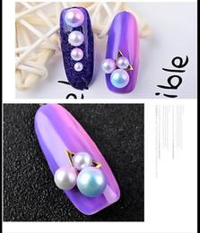 Perle di metallo per unghie Glitter per unghie in cristallo Decorazioni per unghie per manicure Strumenti per manicure Accessori per sfumature di colore sfumato a forma di sirena da