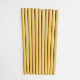 Argentina 19cm 23cm Pajitas de bambú reutilizables naturales - Bubble Tea Juice Coffice Gruesas pajitas de bambú para beber Eco Friendly Natural Straw Suministro