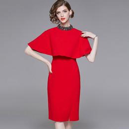 979aa0917708 2019 vestito di cape delle donne Nuovo arrivo 2019 da donna O Neck Beaded  Sleeveless Capo
