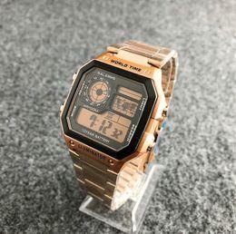 b0b3c1c8bc91 2019 hombres y mujeres de la moda reloj clásico de acero inoxidable digital  retro LED reloj alarma digital reloj deportivo envío gratis retro led watch  ...