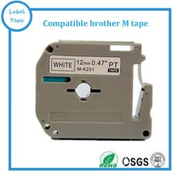 formatador hp Desconto 10 pçs / lote Brother M-K231 MK231 compatível P-touch 12mm preto no branco M fitas irmão impressora de etiquetas