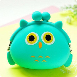 borsa della moneta della gelatina all'ingrosso Sconti Commercio all'ingrosso- Nuova moda Bella Kawaii Candy Color Cartoon Animal Women Ragazze Portafoglio Multicolor Jelly Silicone Coin Bag Borsa Kid regalo
