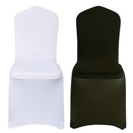 2019 parágrafo do computador High-End Jantar capas de cadeira Dustproof alta Elastic banquete do casamento Chair Seat Cover Protector 1pcs Dropshipping