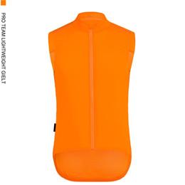 Colete de colete laranja on-line-SPEXCEL Top qualidade Pro Team fluor laranja homens ou mulheres Gilet à prova de vento Ciclismo Ciclismo jaqueta quebra-vento colete de vento