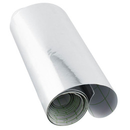 Hojas de adhesivos espejados online-152 x 10 cm Chrome Silver Car Impermeable UV Etiqueta Engomada Protegida Auto Espejo Vinyl Wrap Film Motocicleta Hoja de Calcomanía 4x60 pulgadas