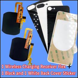 Precisa de filme on-line-Para iPhone 7 7Plus receptor de carregador sem fio flex com adesivo de filme de volta de vidro sem necessidade de substituir o alojamento de volta