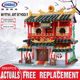 2019 artes marciais chinesas EM ESTOQUE XINGBAO 01004 2531 Pcs Genuine Criativo Série Edifício As Artes Marciais Chinesas Conjunto de Blocos de Construção Tijolos Brinquedos Modelo artes marciais chinesas barato