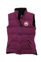 Chaquetas de plumas moradas online-Invierno caliente abajo concede la Mujer caliente grueso chaquetas sin mangas púrpura abajo concede informal al aire libre a prueba de agua damas chaleco de abrigo abrigos Canadá