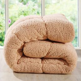 розовый коричневый покрывало Скидка Ягненок бархат Одеяло для зимы теплый и толстый одеяло одеяло одеяло одеяло из микрофибры заполнение Твин / полный / королева / король размер