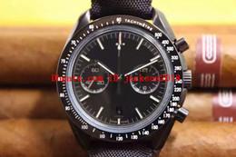 2019 regarder pvd Montre de luxe Moonwatch Montre pour homme chronographe automatique Cal.9300 TONDE DE LA LUNE 311.92.44.51.01.007 Montres PVD cadran noir regarder pvd pas cher