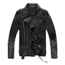Marche giacche popolari online-Giacca firmata da uomo di nuova marca Giacca con cerniera afflitta Hip Hop Casual Inverno Cappotto da uomo popolare giovane Nero Taglia M-4XL