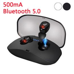 Auriculares 3d online-X18 TWS Invisible Mini Auriculares Inalámbricos Bluetooth Auriculares Estéreo manos libres 3D Reducción de ruido Auriculares Bluetooth 5.0 para teléfonos inteligentes