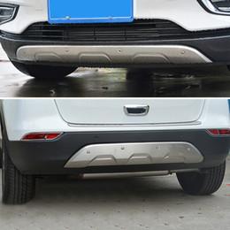 tampa do carro buick Desconto Acessórios do carro FrontRear Bumpers Skid Cover Protector Molding 2 pcs Para Opel Mokka / Vauxhall Mokka / Buick Encore 2016-2017
