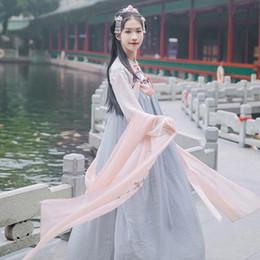 chinesische trachten frauen Rabatt Neue Ankunft Frauen Chinese Traditional Hanfu Kostüm Alte Tang Dynastie Cosplay Kleidung Dame Oriental Fairy Dancwear DWY1919