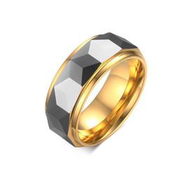 edelstahl männer zahnrad ring Rabatt 2019 heißer verkauf titanium edelstahl mode 8mm gang gold liebhaber ringe für männer schmuck paare zirkonia hochzeit ringe bague femme