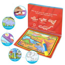 bambini di carta graffi Sconti 8 stili Magic Water Drawing libro da colorare Doodle la penna magica di disegno Giocattoli formazione iniziale per i bambini del regalo di compleanno