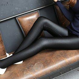 2019 calças de cetim Moda Fina brilhantes das mulheres Leggings Novo Estilo Moda Tamanho do Tornozelo Preto Leggings Stretchy cintura alta Satin Leggings Básico calças de cetim barato