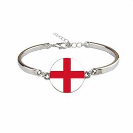 frauen england flagge Rabatt Mode England Nationalflagge WM Fußball Fan Zeit Edelstein Glas Cabochon Armbänder Gliederkette Weiblich Männlich Schmuck Heißes Geschenk für Frauen Männer