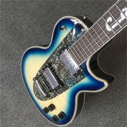 Música do oem guitars on-line-Frete Grátis brinkley Custom Shop 1960 Corveta azul guitarra elétrica, símbolo da música fretboard, OEM,