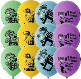 Бесплатная доставка Fortnite воздушный шар Мак латексные шары Globos день рождения поставки детские игрушки подарки брак украшения supplier free birthday от Поставщики бесплатный день рождения