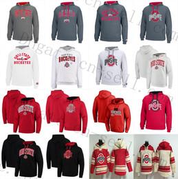2019 camisa de hóquei universitária Ohio State Buckeyes Universidade Hóquei Hoodies Jerseys 15 Elliott 97 Bosa 12 C. JONES 16 BARRETT 1 B. Pullover Moletom Com Capuz Moletons camisa de hóquei universitária barato