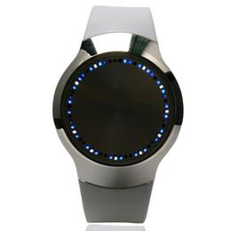 спортивные наручные часы белые Скидка White Unisex Sports Casual Touch Screen LED Analog Wrist Watch Quartz Silicone Band Men Lady W153702