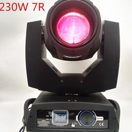 2019 cabeça movendo eua luz 2pcs Avançada 230w 7R Feixe principal movente 230W LED Prism Moving Head Light DMX512 Controle Partido Nightclub Special Bar Disco DJ Stage Lighting