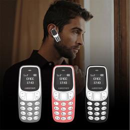 Cuffie per telefoni online-L8STAR BM90 2019 Versione più recente Mini telefono Cellulare Super piccolo Mini Magic Voice Bluetooth Cuffie Cuffie senza fili