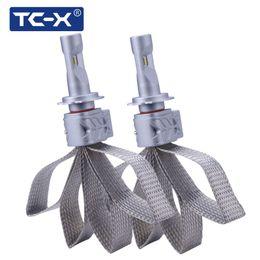 замена ламп накаливания Скидка TC-X H7 Car LED Light Bulb Headlight Conversion Kit Replacing Car Lamp Low Beam for Auto Driving Lights with Tinned Copper Braid