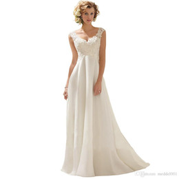 vestido de noiva de tafetá sexy fora do ombro Desconto Moda de Nova High-end V Neck Beading Chiffon Tribunal Trem vestido de noiva Vestido de noiva Professional personalizado