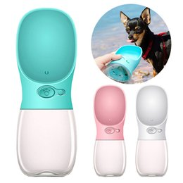 2019 cães tamanho tigela Outdoor garrafa de água portátil pet cão saudável copo do curso alimentador da água gato de estimação ABS copo bebendo JXW053
