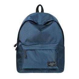 zaini carino ragazza per il college Sconti Zaino per ragazze Fashion Classic Blue poliestere donne College Student Cute School Bag per ragazze Bookbag Shoulder Bag Daypack