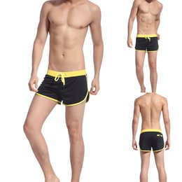 e84b2b06dd2 new style Boxer Briefs Men's Swimwear Trunks Sports Wear Sexy Short Beach  Summer Pants Mens Swimsuit free shipping