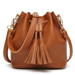 Nouveau sac à bandoulière mode coréenne casual simple sac Messenger sac de pompage seau dames sac Pièces de levage, poignées télescopiques ? partir de fabricateur