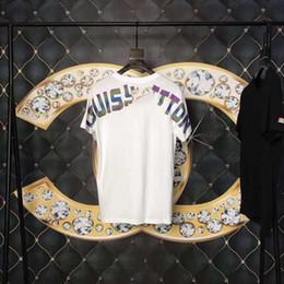 Estilo de camisa da camisa on-line-New hot men t shirt 2019 simples linha de design criativo cruz de impressão de algodão T-shirts dos homens novos de verão estilo de manga curta homens t-shirt