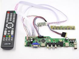 Controlador vga lcd online-Latumab Kit para LTN156AT24-T01 TV + HDMI + VGA + USB Pantalla LCD LED Controlador Controlador Tablero Envío gratis