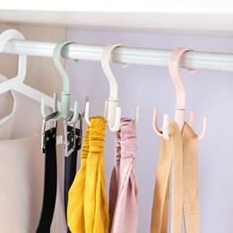 Cremalheira do gancho da lavanderia on-line-Racks de Secagem de Casa multifuncional Rotatable Hook Hanger Lavanderia Rack Para Roupas Cachecol Chapéu Meias Wardrobe Cabides De Armazenamento