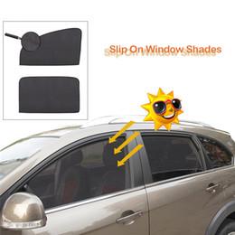 2020 finestre vetrate kongyide Auto parasole 2Pcs / Set poliestere Mesh magnetica Parasole Auto Windows Dimensione universale poliestere nero je5 sconti finestre vetrate