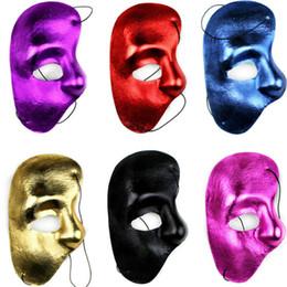 2020 maschera di fantasmi per halloween Halloween Masquerade Mask Coolwife epoca Fantasma della mascherina di opera del fronte mezzo maschera di fantasmi per halloween economici