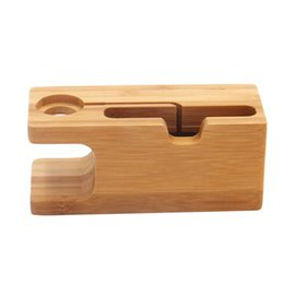 new accessories for mobile phones Promo Codes - 2019 new coming bamboo wooden for iwatch mobile accessories stand mobile phone stand universal non-slip mobile stand