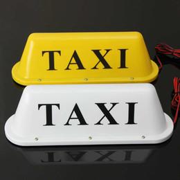 2019 luz led de taxi 12V Taxi Base magnética Techo superior Cab LED Lámpara de luz de señal con encendedor Luz blanca amarilla rebajas luz led de taxi
