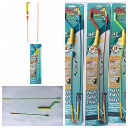 2019 herramientas de hilado THE DRAIN WEASEL PLUS Herramienta de obstrucción del cabello Mango Varitas desechables Tubería de giro Dispositivo de dragado Herramientas de limpieza del cabello FFA1874 herramientas de hilado baratos